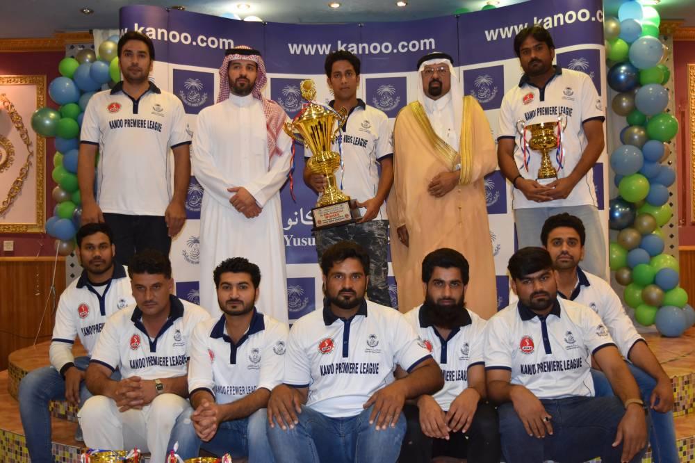 Al Burj Team Winner of Kanoo Premier Cup 2018-19 with Ahmed Kanoo and Dr. Faiz Al Abideen.