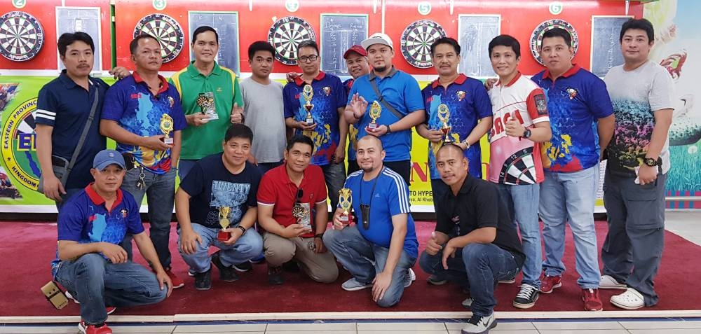 Winners and participants in the Rexson Fernandez Birthday Darts Tournament of EPDA.