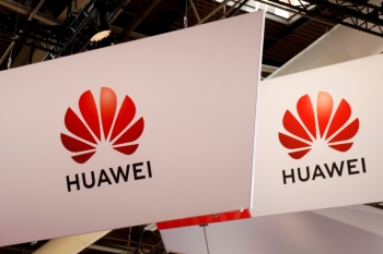 The logo of Huawei is seen at the high profile startups and high tech leaders gathering, Viva Tech,in Paris, on May 16. - Reuters