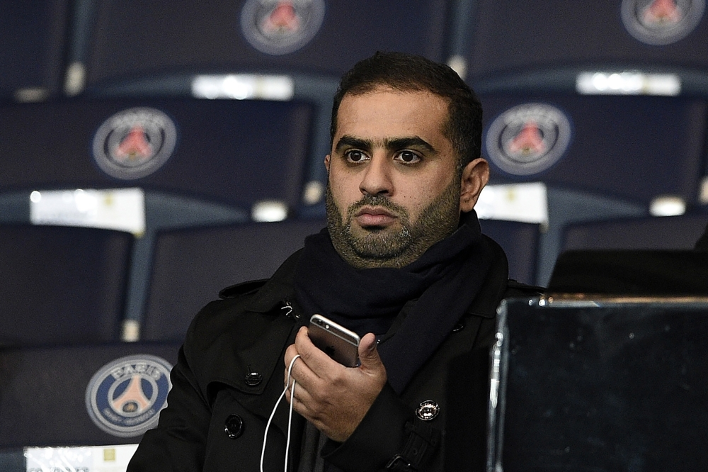 In this file photo, Yousef Al-Obaidly, president de BeIN Sports France, attends the UEFA Champions League group A football match between Paris-Saint-Germain (PSG) and Shakhtar Donetsk at the Parc des Princes stadium in Paris. Yousef Al-Obaidly was indicted, end of March in France, in the investigation on suspicions of corruption over the awarding to Doha of the World Athletics championships, judicial sources close to the case said on Tuesday. — AFP