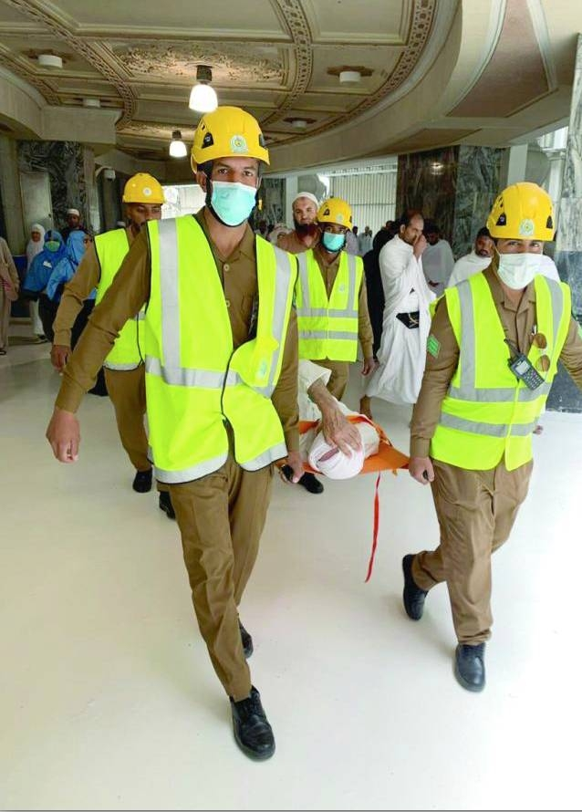 2,180 pilgrims receive first aid services in Makkah mosque
