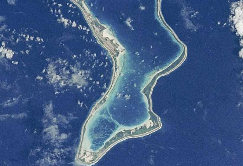 File photo of the strategic Chagos island in Indian Ocean. The United Nations General Assembly overwhelmingly demanded on Wednesday that Britain give up control over the Chagos Islands in the Indian Ocean within six months, dealing a diplomatic blow to Britain and the United States.