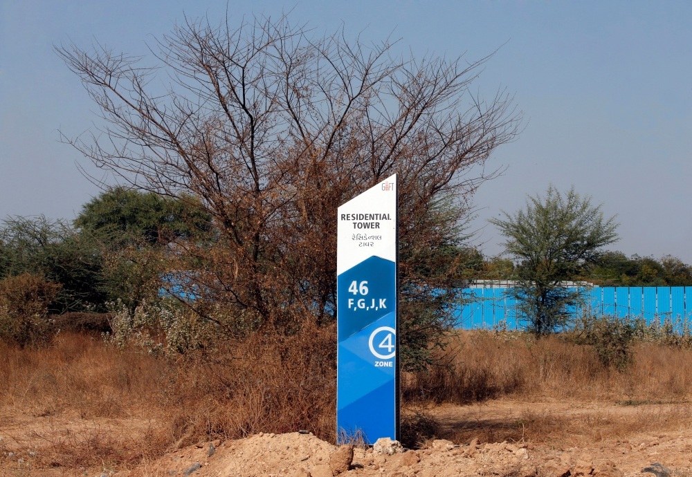 A signboard is pictured at the Gujarat International Finance Tec-City (GIFT) at Gandhinagar, in the western state of Gujarat, in this file photo. — Reuters