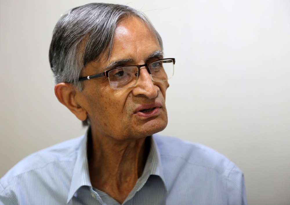 D.C. Anjaria, former independent director on Gujarat International Finance Tec-City (GIFT) board, speaks with Reuters inside his office in Ahmedabad, India. — Reuters