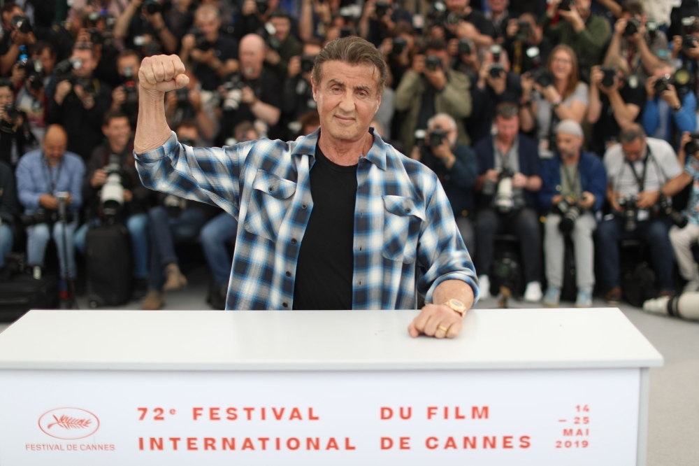 US actor Sylvester Stallone poses during a photocall for