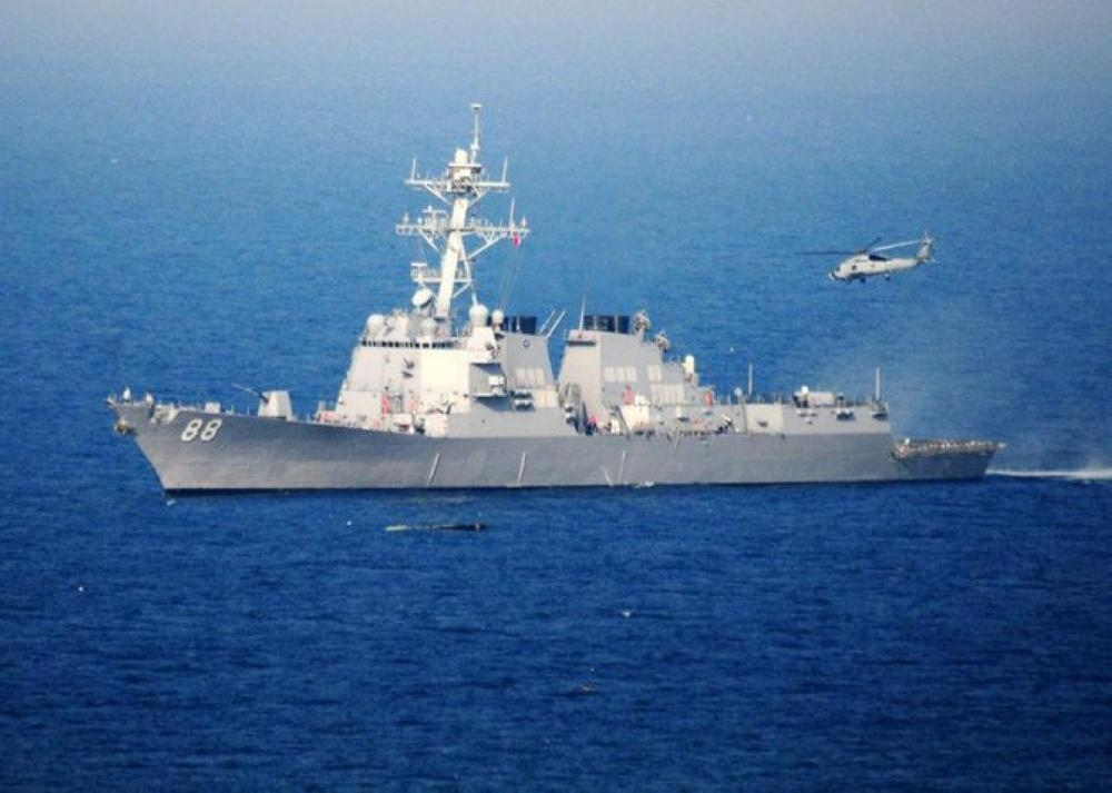 US warship sails in disputed South China Sea amid trade tensions in this file photo. — AFP
