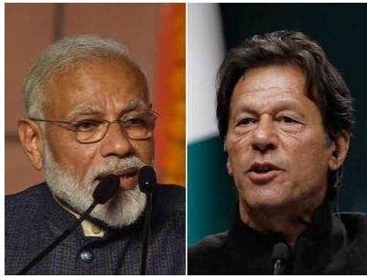 Imran Khan (right) and Narendar Modi