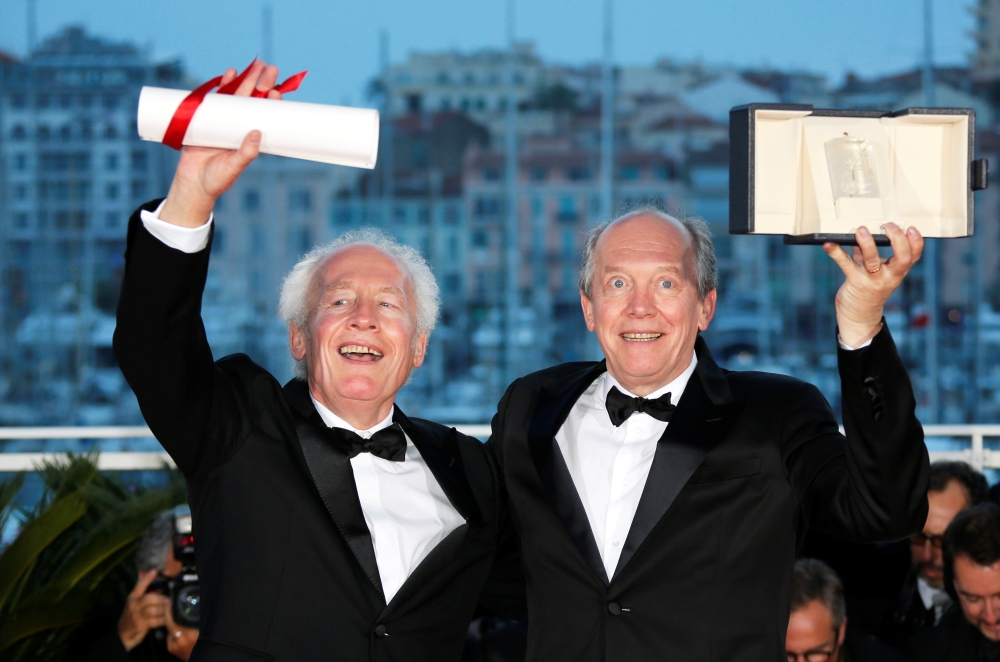 Directors Jean-Pierre Dardenne and Luc Dardenne, 'Best Director' award winners for their film