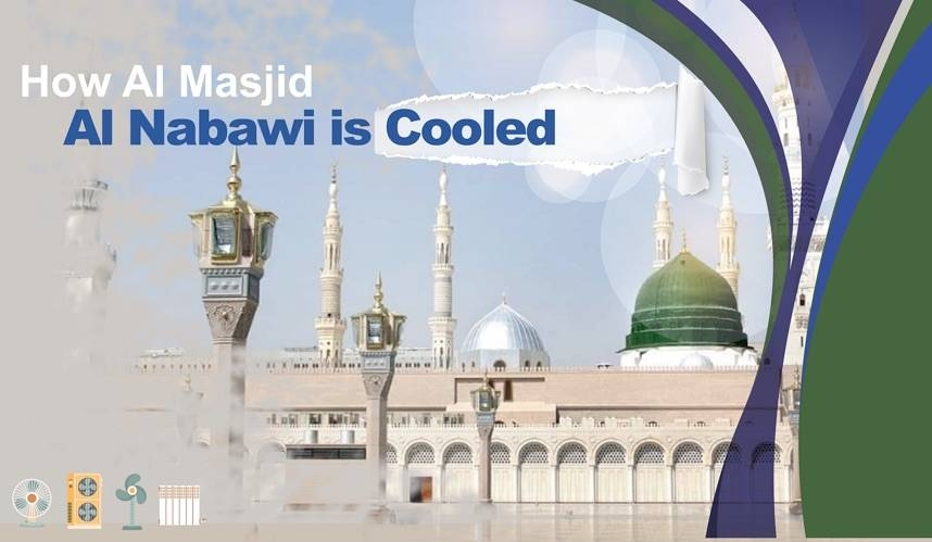 Integrated cooling solutions greet worshipers at the Prophet's Mosque