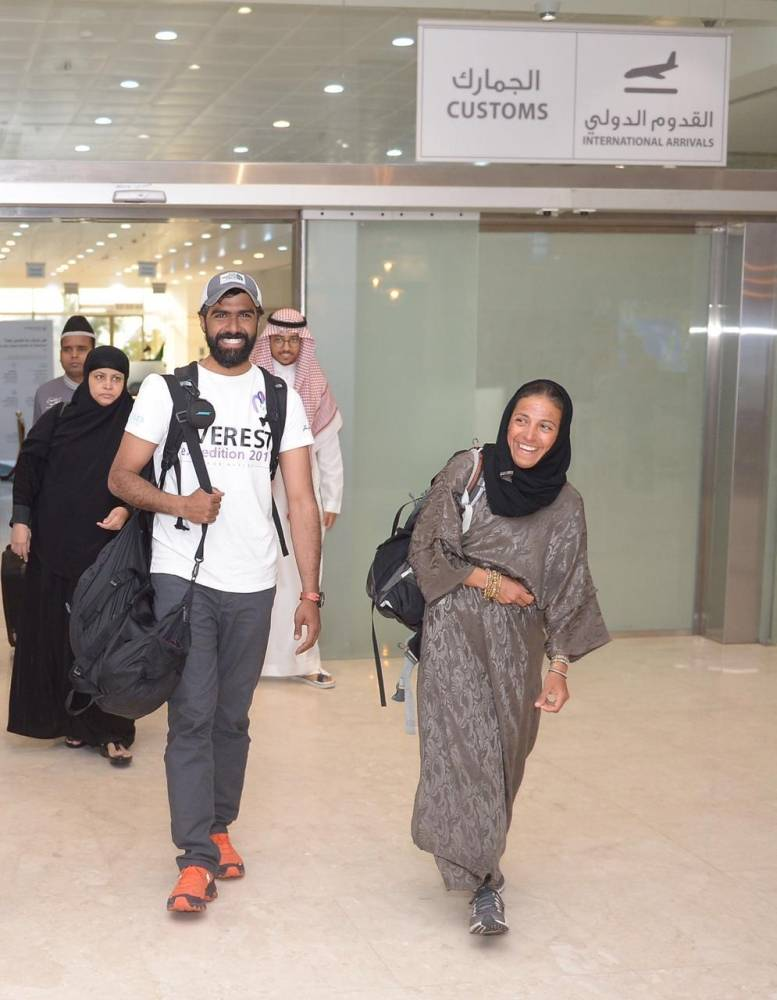 Saud Al-Eidi arrives at King Abdul Aziz International Airport in Jeddah