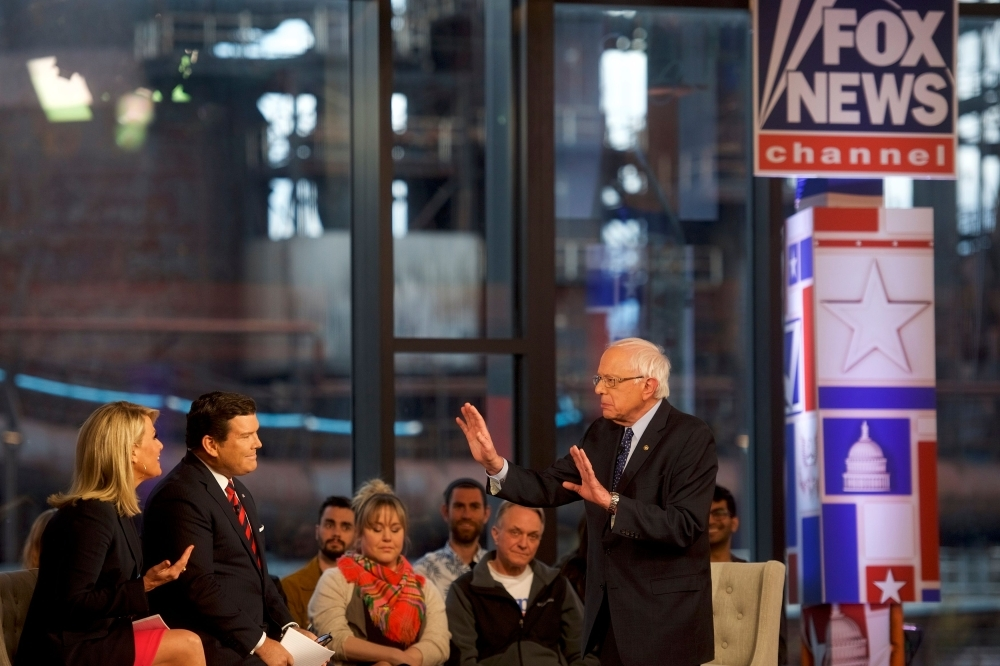 In this file photo taken on April 15, 2019 Democratic presidential candidate, US Sen. Bernie Sanders (I-VT) participates in a FOX News Town Hall at SteelStacks in Bethlehem, Pennsylvania. — AFP