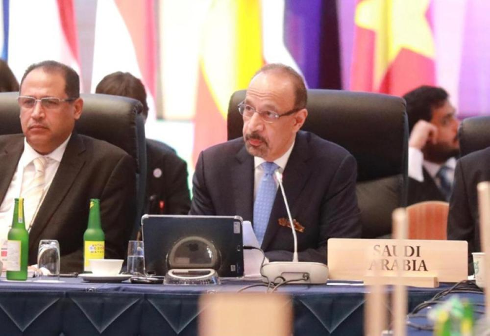 Saudi Energy Minister Khalid Al-Falih attending the G20 ministerial meeting on Energy Transitions and Global Environment for Sustainable Growth in Karuizawa in Japan on Saturday. — SPA
