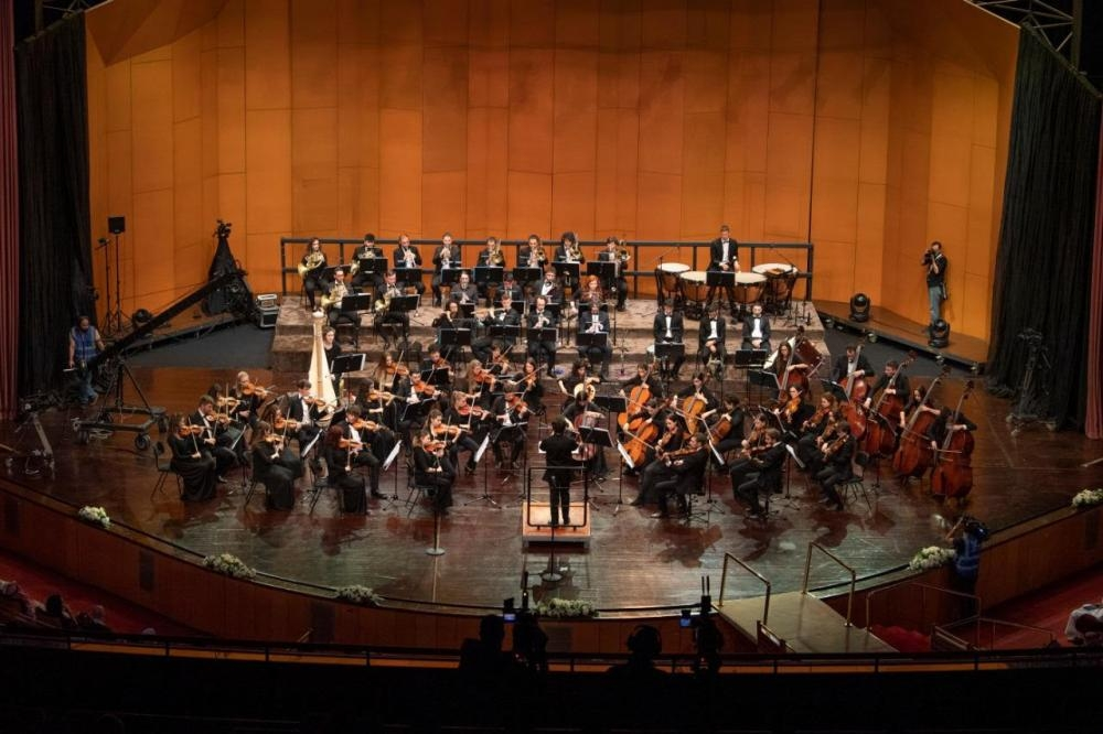The Italian opera 'La Scala' by the Teatro Alla Scala Academy performed at the King Fahd Cultural Center in Riyadh.