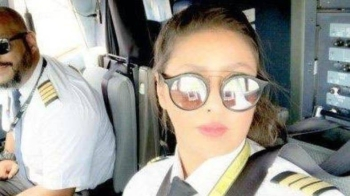 "Ten months after she got her pilot license and told Al Arabiya English that she will ""soon captain a national airliner,"" Al-Maimani achieved her goal. — Courtesy photo"