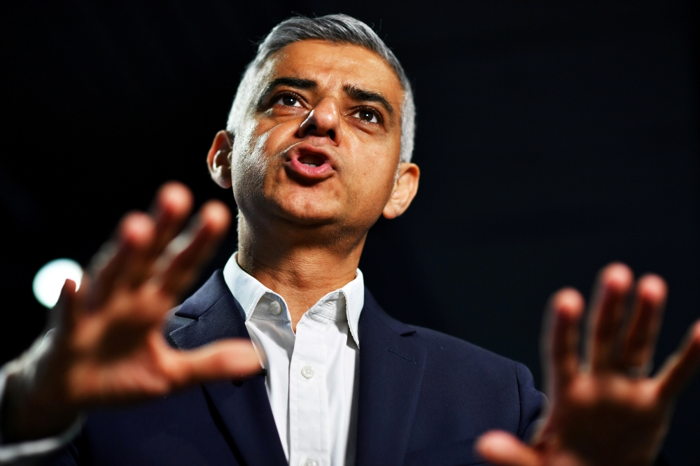 Mayor of London Sadiq Khan speaks during an interview at an event to promote the start of London Tech Week in London in this June 10, 2019 file photo. — Reuters