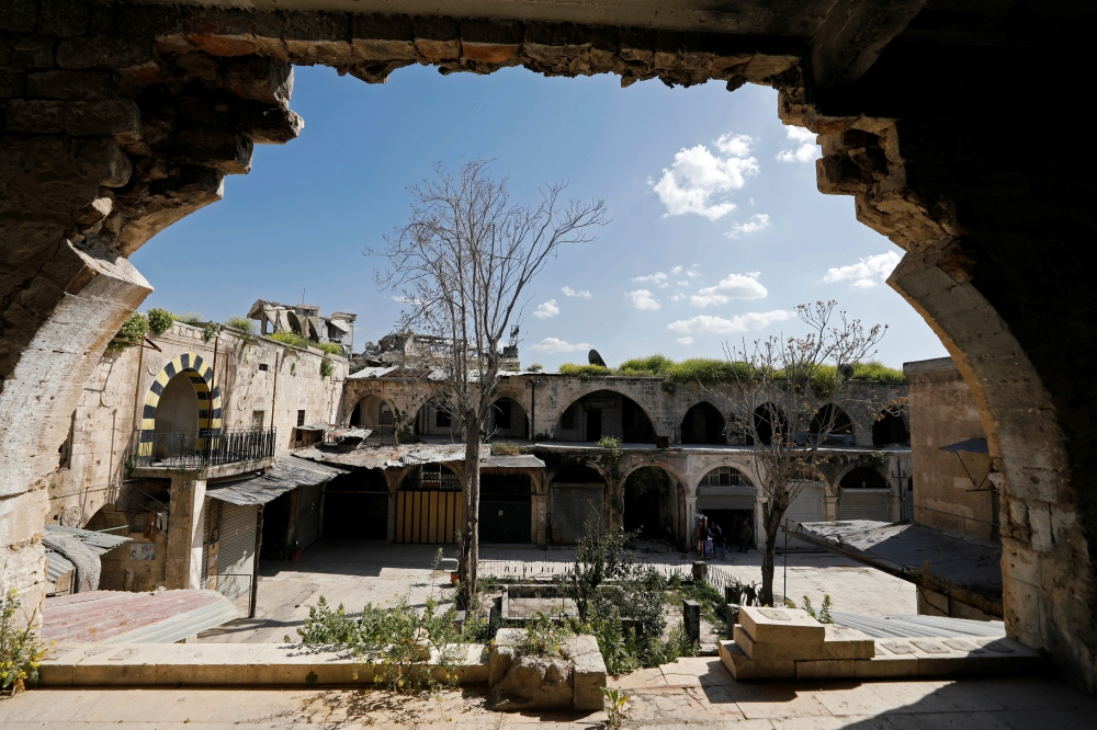A view of the mostly deserted Khan Khair Bek area at the old city of Aleppo, Syria, in this April 13, 2019 file photo. — Reuters