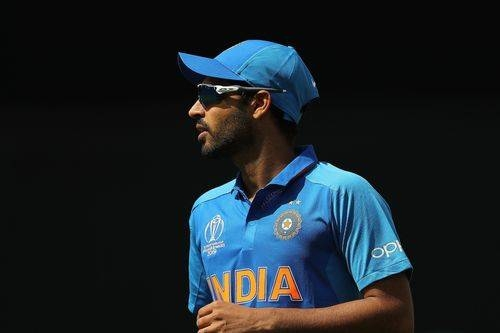 Bhuvneshwar Kumar could be out of India's next three World Cup games after injuring himself in Sunday's win over Pakistan.
