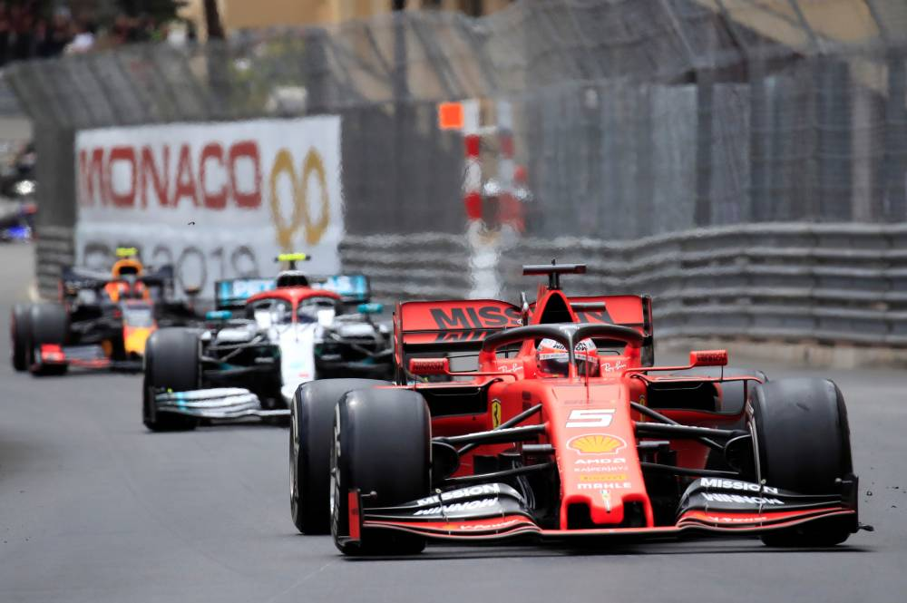 Ferrari's Sebastian Vettel in action during the Formula One F1 Monaco Grand Prix race   at the Circuit de Monaco, Monte Carlo, Monaco, in this May 26, 2019, photo. — Reuters
