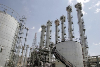 A file photo shows a general view of the heavy water plant in Arak, 320 kms south of Tehran. — AFP