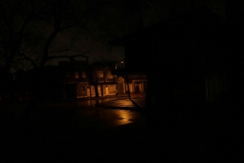 A lamppost shines down a street as the rest of the neighborhood Parque Batlle goes without electricity, although power has mostly been restored after a massive blackout in Argentina cut electricity to much of neighboring Uruguay and swaths of Paraguay, in Montevideo, Uruguay, on Sunday. — Reuters