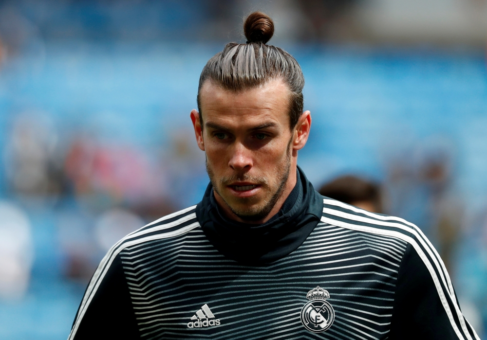 Real Madrid's Gareth Bale during the warm up before the La Liga Santander match against Eibar at the Santiago Bernabeu, Madrid, Spain, in this April 6, 2019, photo. — Reuters