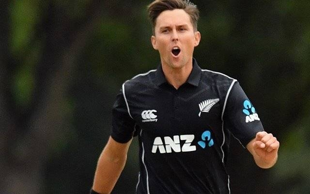 Trent Boult of New Zealand reacting during the One Day International match during the series against West Indies at Hagley Oval in Christchurch, New Zealand, in this Dec. 26, 2017, file photo. — AFP