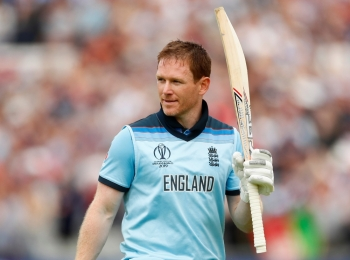 England's Eoin Morgan walks off after losing his wicket  during the ICC Cricket World Cup match against Afghanistan at the Old Trafford, Manchester, Britain on Tuesday. —  Reuters