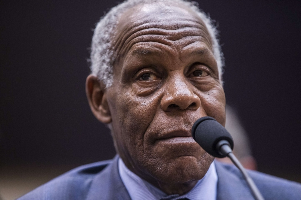 Actor Danny Glover testifies during a hearing on slavery reparations held by the House Judiciary Subcommittee on the Constitution, Civil Rights and Civil Liberties in Washington on Wednesday. — AFP