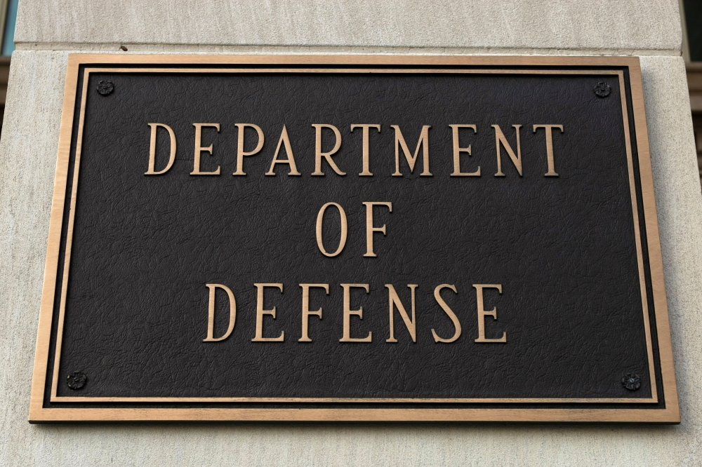 A sign at the Department of Defense is pictured at the Pentagon in Washington in this March 25, 2010 file photo. — Reuters