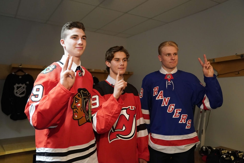more photos b812b 5d99d Devils draft Hughes No. 1 on big night for US players ...