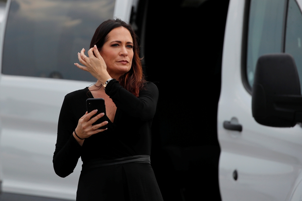 Stephanie Grisham, spokesperson for first lady Melania Trump, arrives for a campaign rally with US President Donald Trump in Orlando, Florida on June 18. -Reuters
