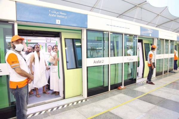 The Mashaer trains will transport about 360,000 pilgrims between the holy sites during the upcoming Haj.