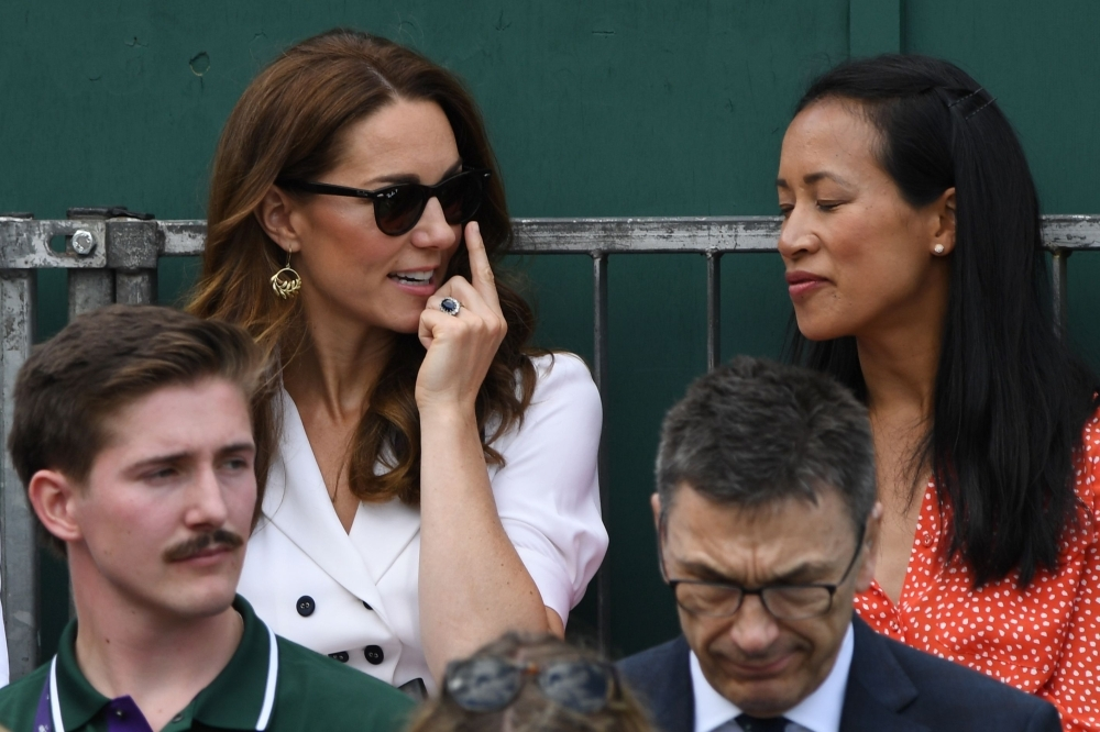 Kate Middleton stuns at Wimbledon in classic white dress