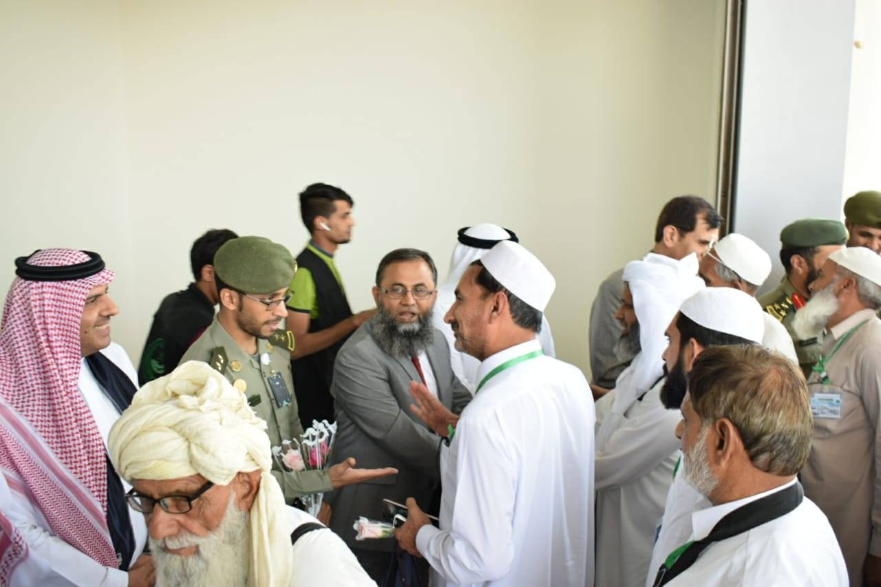 The first group of Pakistani pilgrims arrives at Prince Muhammad International Airport in Madinah on Thursday.
