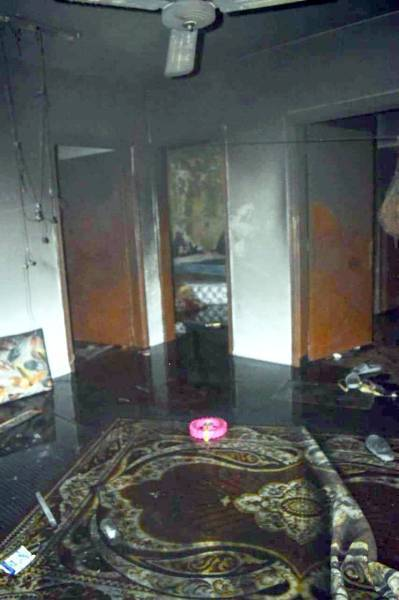 The rescue teams found the occupants of the apartment in a deteriorating condition.