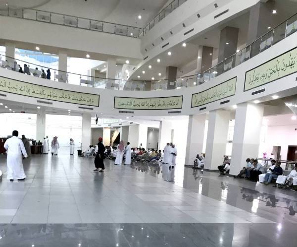 An inside view of the Criminal Court in Jeddah.