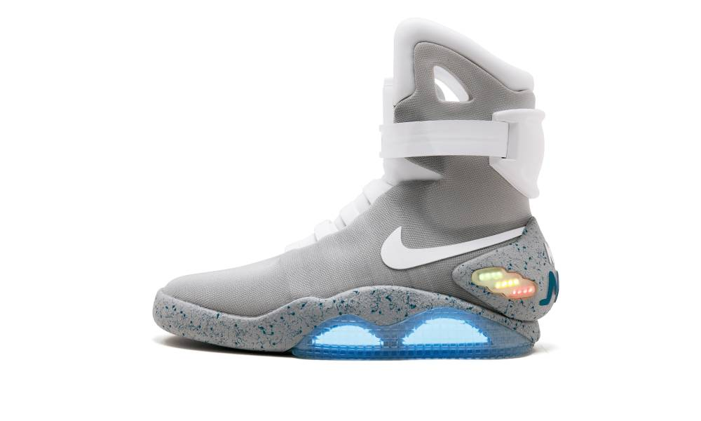 The Nike Mags sneaker, the design worn by Marty McFly character in
