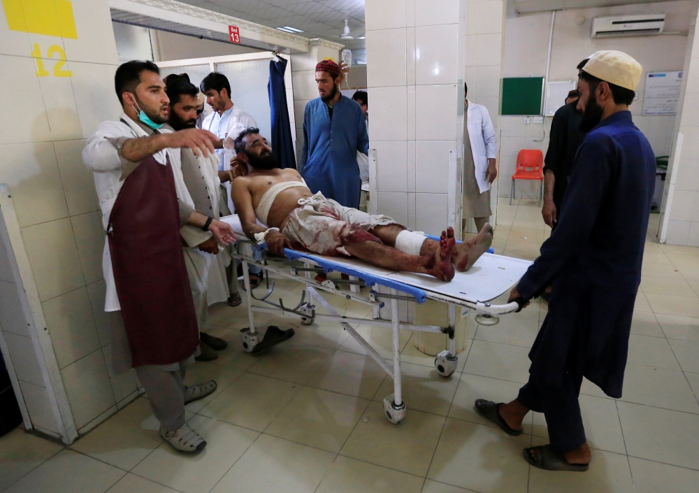 An injured man receives a treatment at the hospital, after a suicide attack in Jalalabad, Afghanistan, in this July 12, 2019 file photo. — Reuters