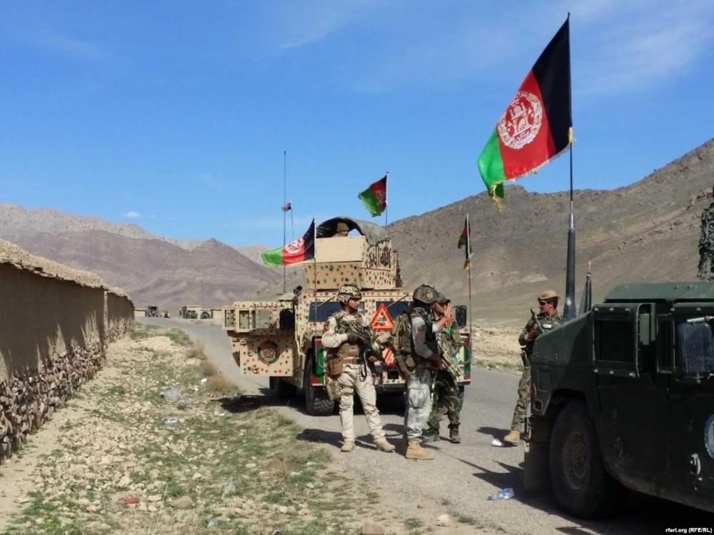 A Afghan army convoy on a major road in Kandahar province is seen in this file picture. — Courtesy photo