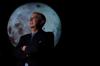 University of Colorado Boulder director of NASA/NLSI Lunar University Network for Astrophysics Research Jack Burns, who is working with NASA to put telescopes on the moon by using telerobotic technology, stands for a portrait at the Fiske Planetarium in Boulder, Colorado, in this June 24, 2019 file photo. — Reuters