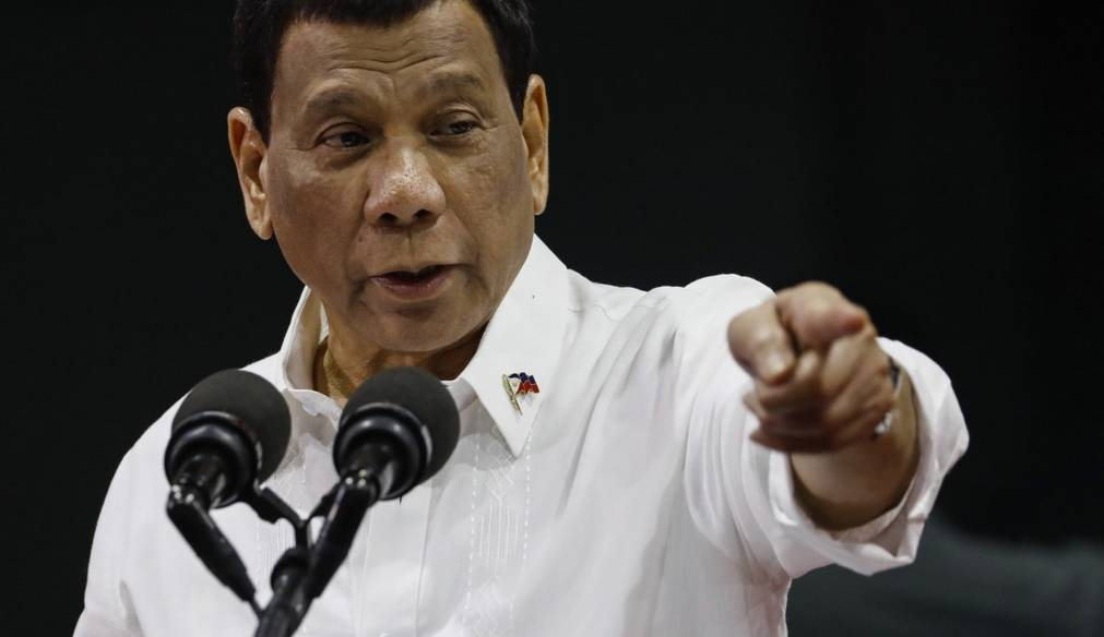 Philippine President Rodrigo Duterte delivers a speech during an event to honor overseas Filipino workers in Quezon City, east of Manila, on Friday. –Courtesy photo   Philippine President Rodrigo Duterte delivers a speech during an event to honor overseas Filipino workers in Quezon City, east of Manila, on Friday. –Courtesy photo