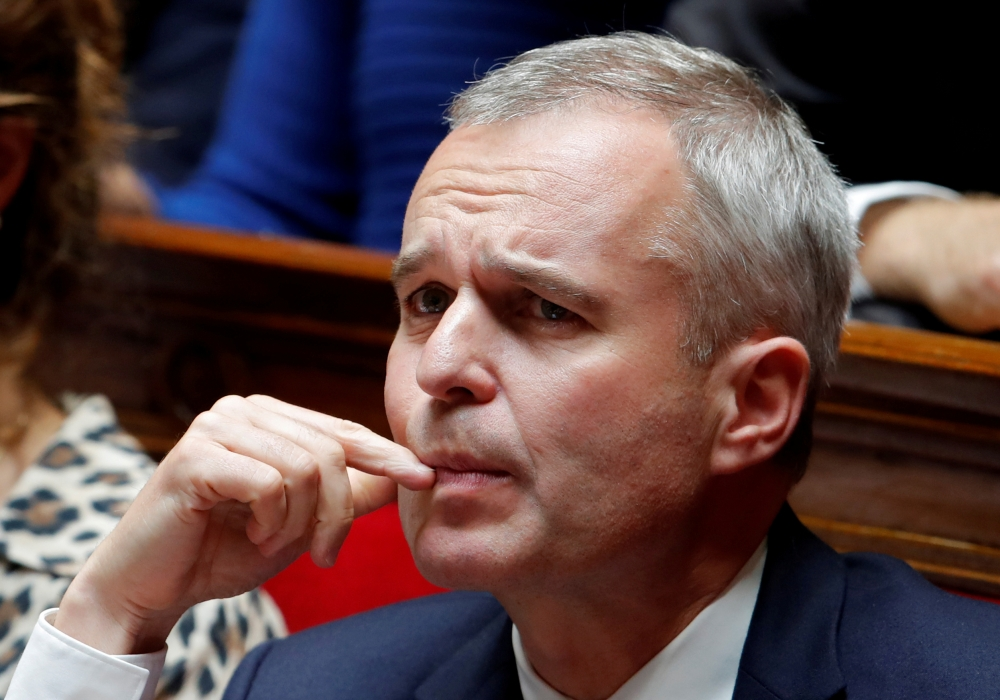 French Minister for Ecology, Sustainable Development and Energy, Francois de Rugy attends the questions to the government session at the National Assembly in Paris, France, in this Sept. 18, 2018 file photo. — Reuters