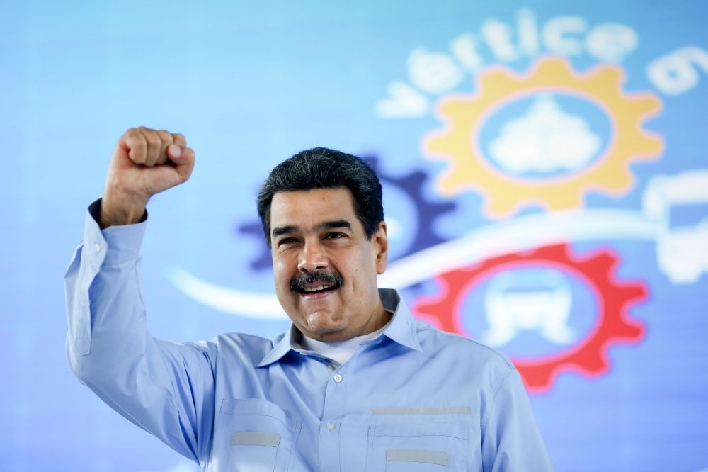 In this handout picture released by Venezuela's Presidency, Venezuela's President Nicolas Maduro gestures during the closing ceremony of a Venezuelan automotive industry event in Caracas in this July 12, 2019 file photo. — AFP
