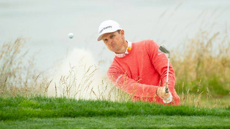 Justin Rose during the first round of the 2019 US Open golf tournament at Pebble Beach. — Reuters/File