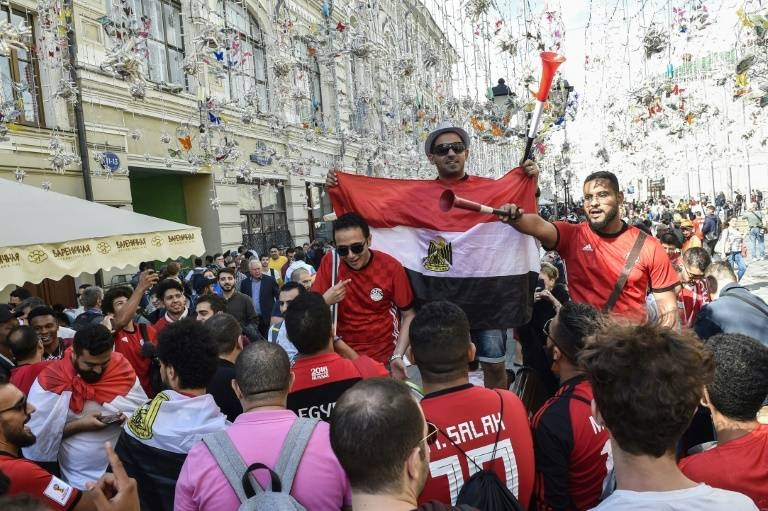 Egyptian fans adding color to the Africa Cup of Nations despite Egypt was eliminated in the round of 16 losing to South Africa. — Courtesy photo