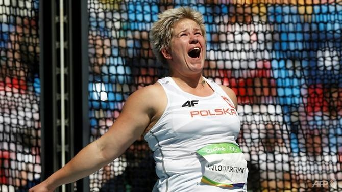 Anita Wlodarczyk won gold in the hammer at the Rio Olympics. — AFP/File