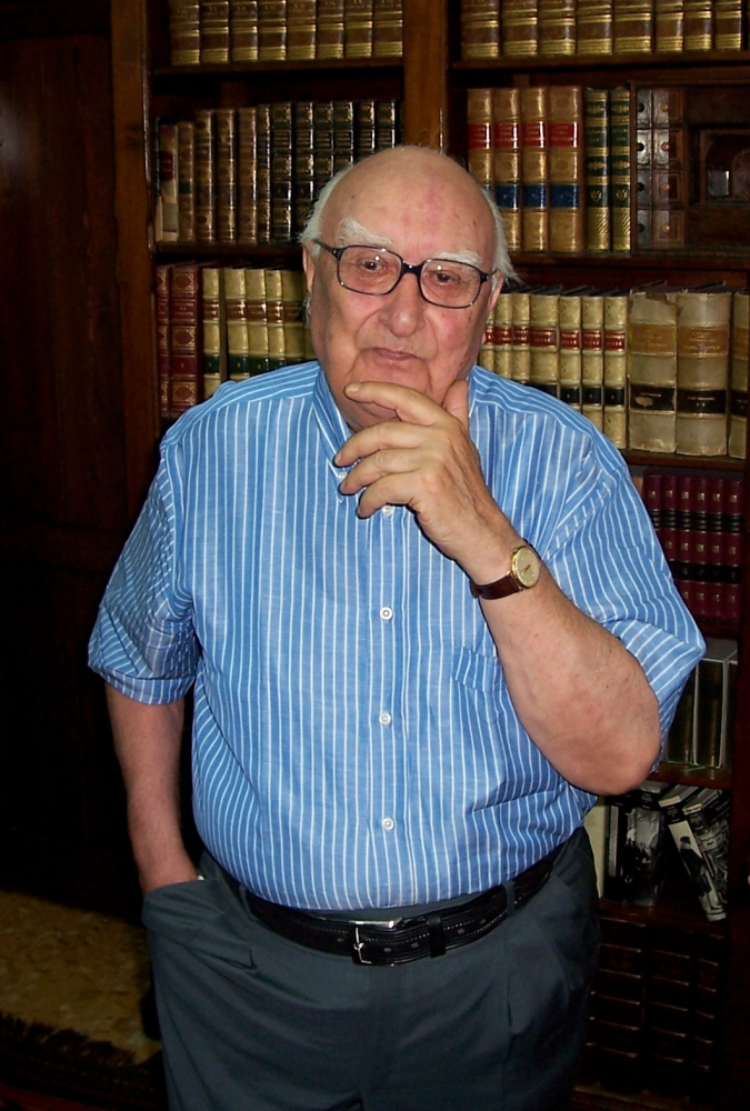 Andrea Camilleri, one of Italy's most famous writers who penned the acclaimed Inspector Montalbano detective novels is pictured in this undated handout photo obtained by Reuters July 17, 2019. — Reuters