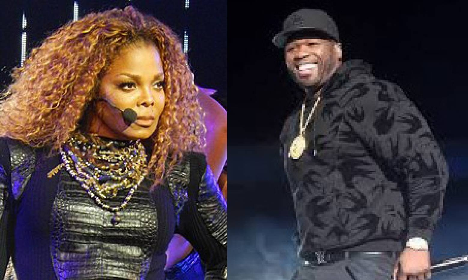 A combo picture shows pop icon Janet Jackson, left, and rapper 50 Cent who are among musicians set to perform in Saudi Arabia organizers said Wednesday.