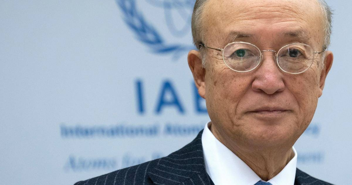 International Atomic Energy Agency (IAEA) chief Yukiya Amano poses ahead of a meeting of IAEA Board of Governors on November 22, 2018 at the agency's headquarters in Vienna, Austria. (Photo by JOE KLAMAR / AFP)        (Photo credit should read JOE KLAMAR/AFP/Getty Images)