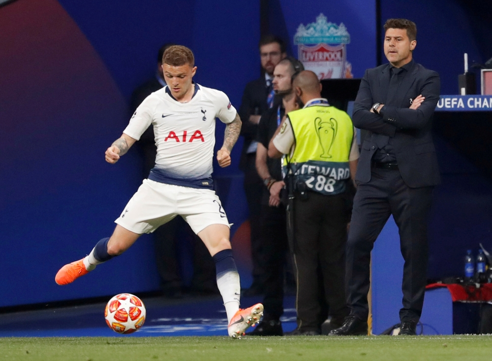 Tottenham's Kieran Trippier in action during Champions League final against Liverpool, in this June 1, 2019 file photo. — Reuters